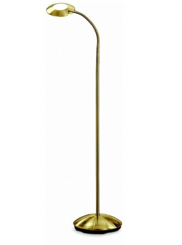 Franklite SL640 Satin Brass Floor Lamp (Class 2 Double Insulated)
